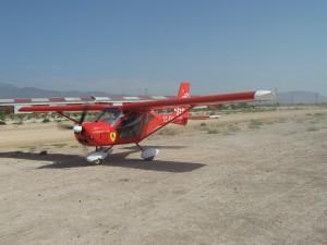 Aeroprakt en rodadura EC-FH8